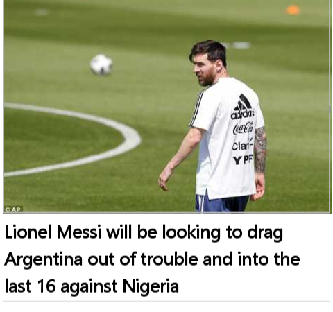 Drama As Argentina Players 'will Decide Team' For World Cup Clash With Nigeria