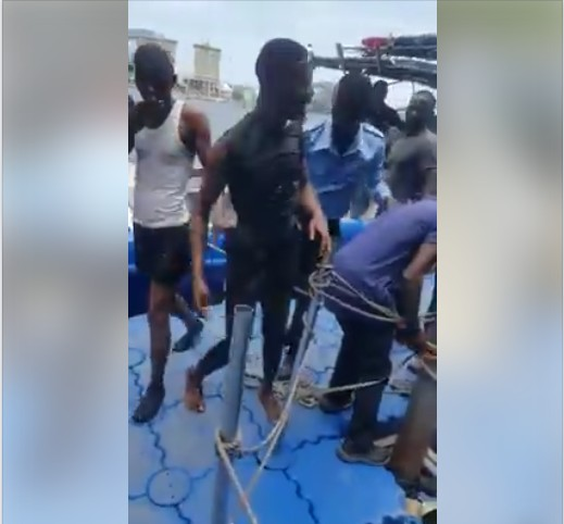 Image result for Suicidal Man Rescued And Arrested After Jumping Into Lagos Lagoon. Photos/Video