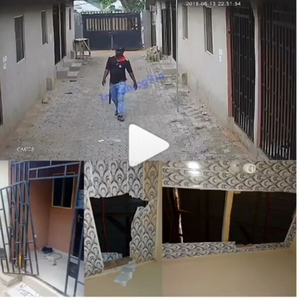 CCTV Captures SARS Break Into A House In Search Of Edo Yahoo Boys (Pics, Video)
