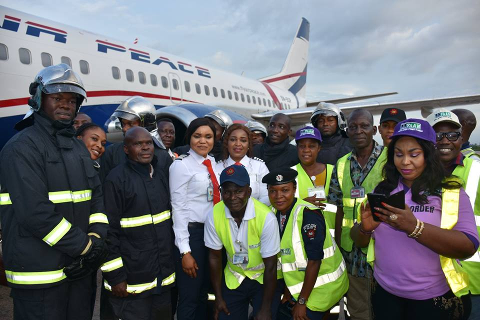Image result for Air Peace all female crew