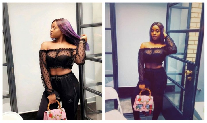 Fans Criticize Chioma Davido's Girlfriend  Ashewo For Wearing See-Through Dress