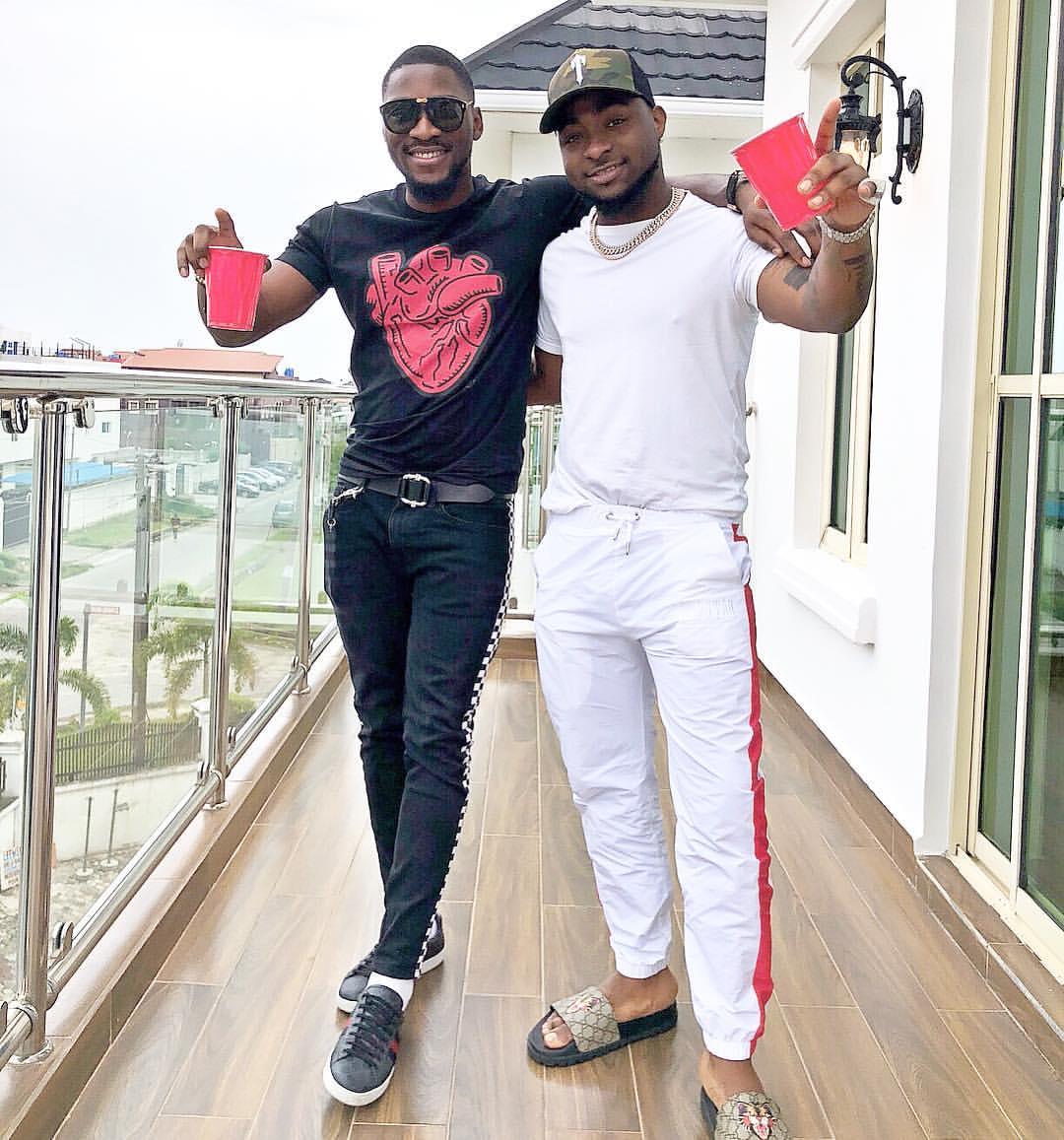 Image result for Davido and Tobi Bakre