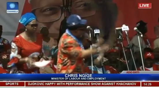 LORD!!!:  'Bring Back Fayose' – Ngige Mistakenly Tells Ekiti People At APC Rally (VIDEO)