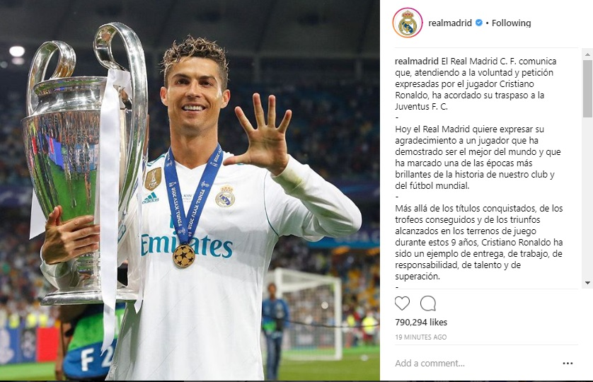 Cristiano Ronaldo with trophy