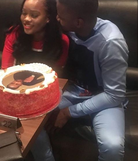 WOW PHOTOS!!!:  Loved Up Photo Of Cee C And Leo At His Birthday Dinner Party