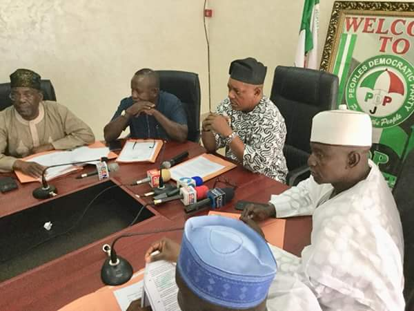 Uche Secondus & Pdp Nwc Meet Over Fayose's Attack.see What They Said