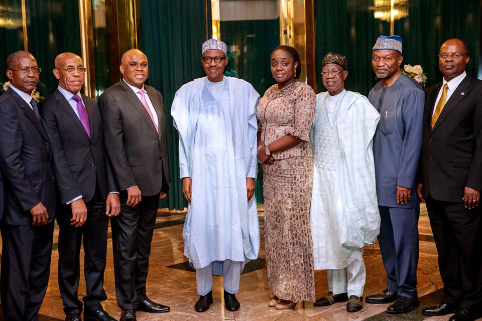 SHOCKING!!!:   Finance Minister, Kemi Adeosun Poses With Buhari Amid NYSC Certificate Scandal (Pics)