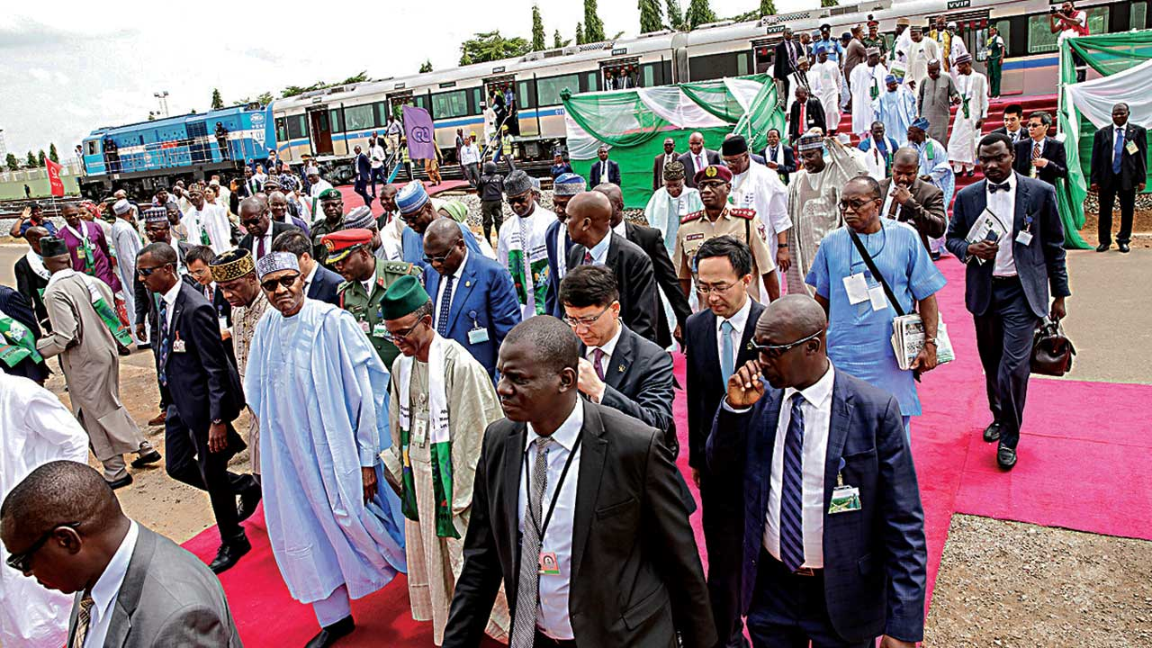 Generator Fails As Buhari Commissions Abuja Light Rail
