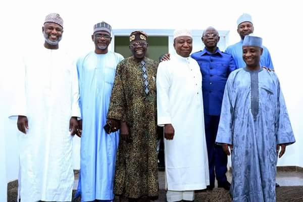 Photos From Tinubu's Meeting With Oshiomhole And Some APC Senators