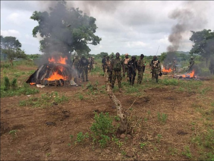 Armed Fulani Herdsmen Engage Soldiers In Gun Battle In Benue (Photos)