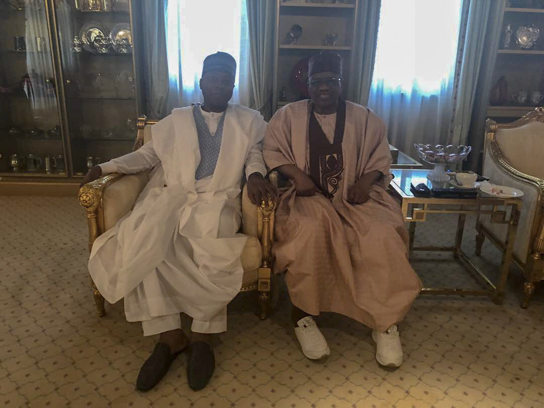 SHOCKING !!!:  Saraki Meets Ibrahim Babangida In Minna