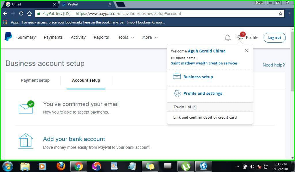 How To Open And Verify Paypal Account In Nigeria Using Bank
