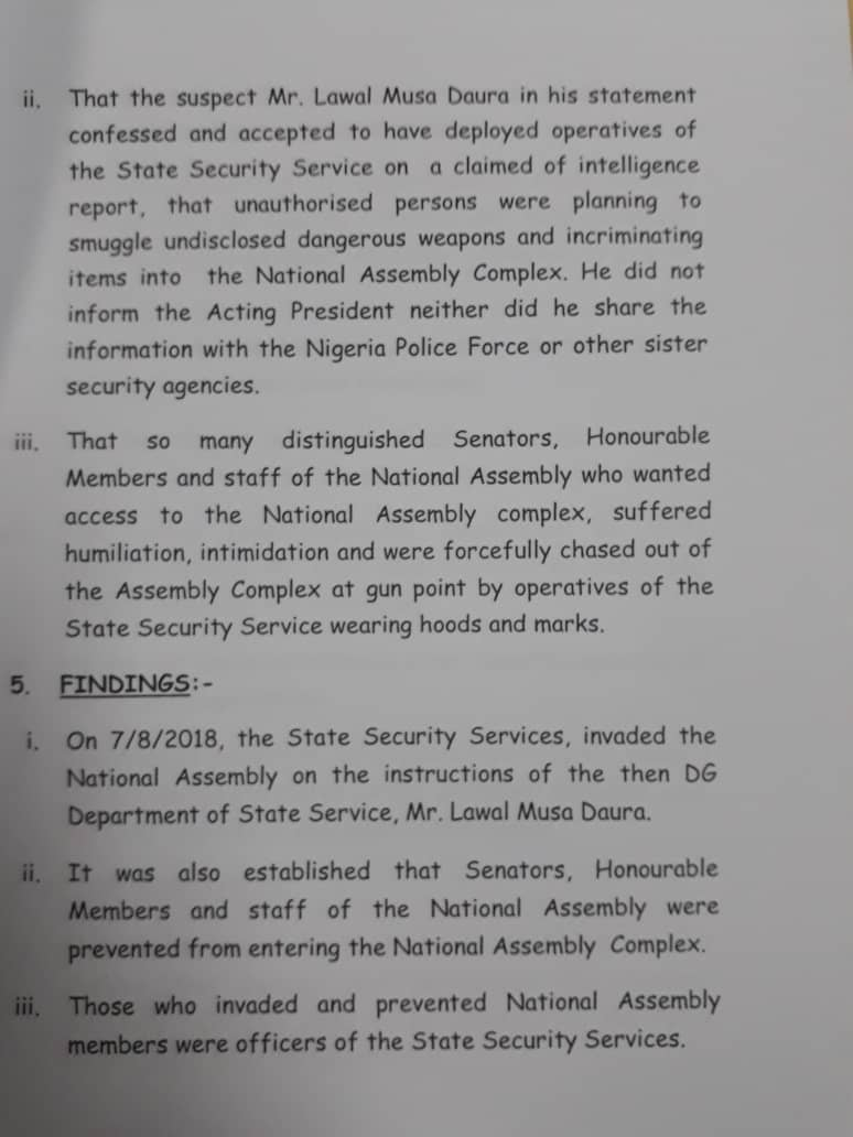 IG Report Confirms That Politicians ordered Senate Seige