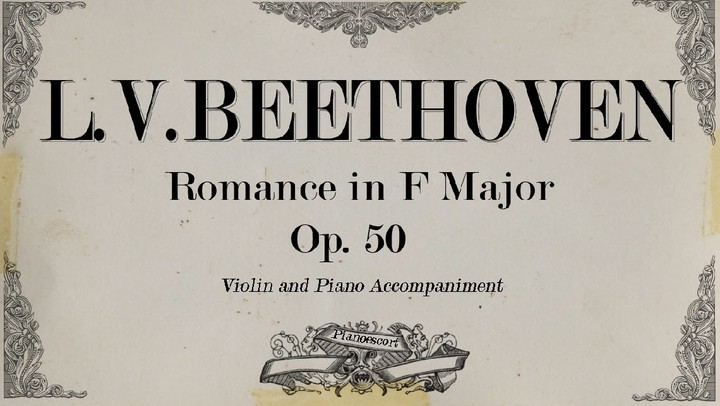 Download Romance Beethoven Piano Music Sheet In PDF - Music