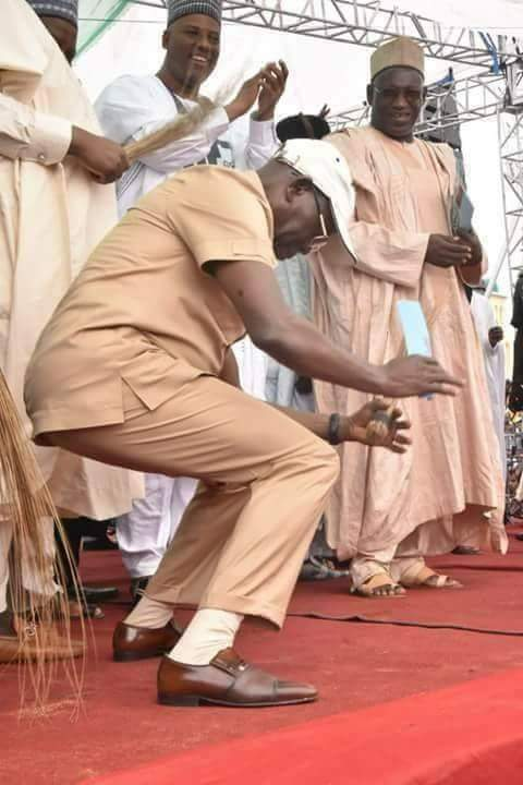 PHOTOS !!!:  Caption This Photo Of Adams Oshiomhole Dancing At APC Rally In Katsina