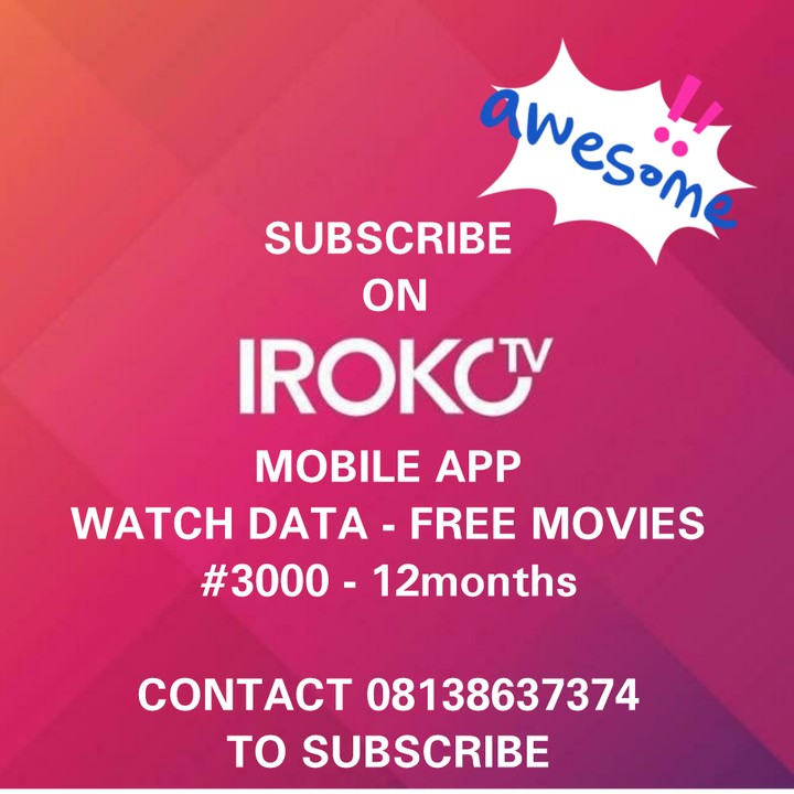 Subscribe To IROKOTV With #3000 For One Year Plan - TV/Movies - Nigeria