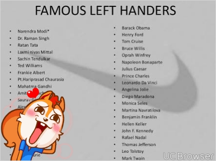 today is world left handers day see famous left handers nairaland