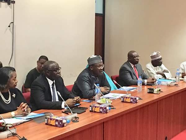 Mahmood Yakubu Presents 2019 INEC Budget To Senate Committe