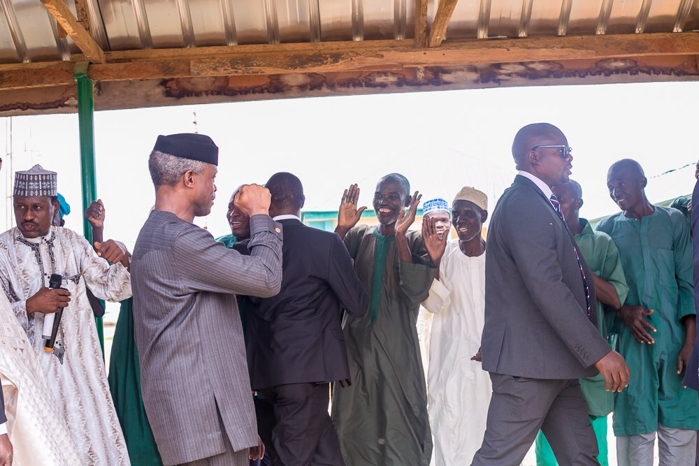 Photo Story: Acting President Osinbajo Visits NYSC Camp In Bakura Town (Photos)