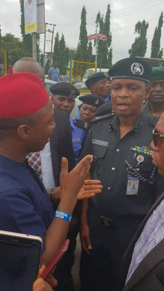 Sowore And Co Protests At Police Headquarters Abuja Over Detention Of Premium Times Reporter (Photo)