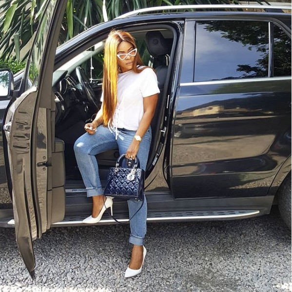 Laura Ikeji Buys N1.2m Lady Dior Bag For Herself (Photos)