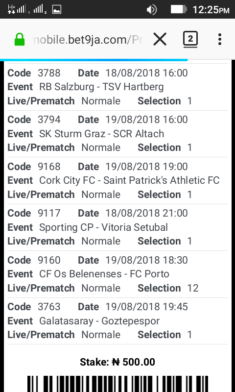 Free Bet9ja Code For Tomorrow And Next accumulated games