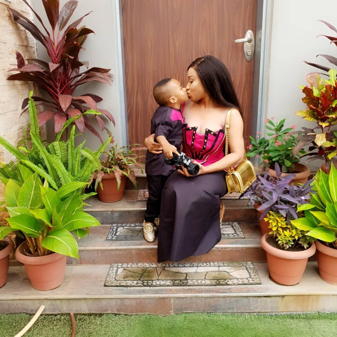 Image result for Tonto dikeh and her son
