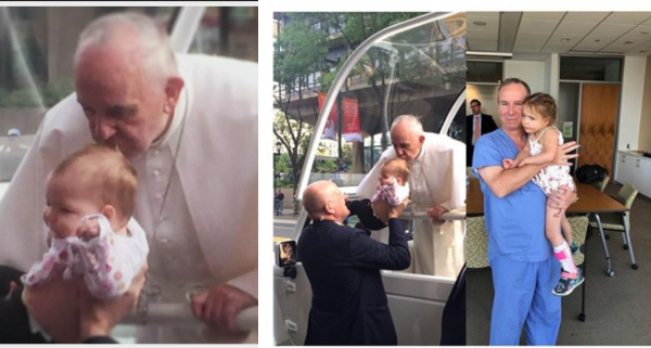 SHOCKING !!!:  Baby Kissed By Pope, Beats Brain Tumour