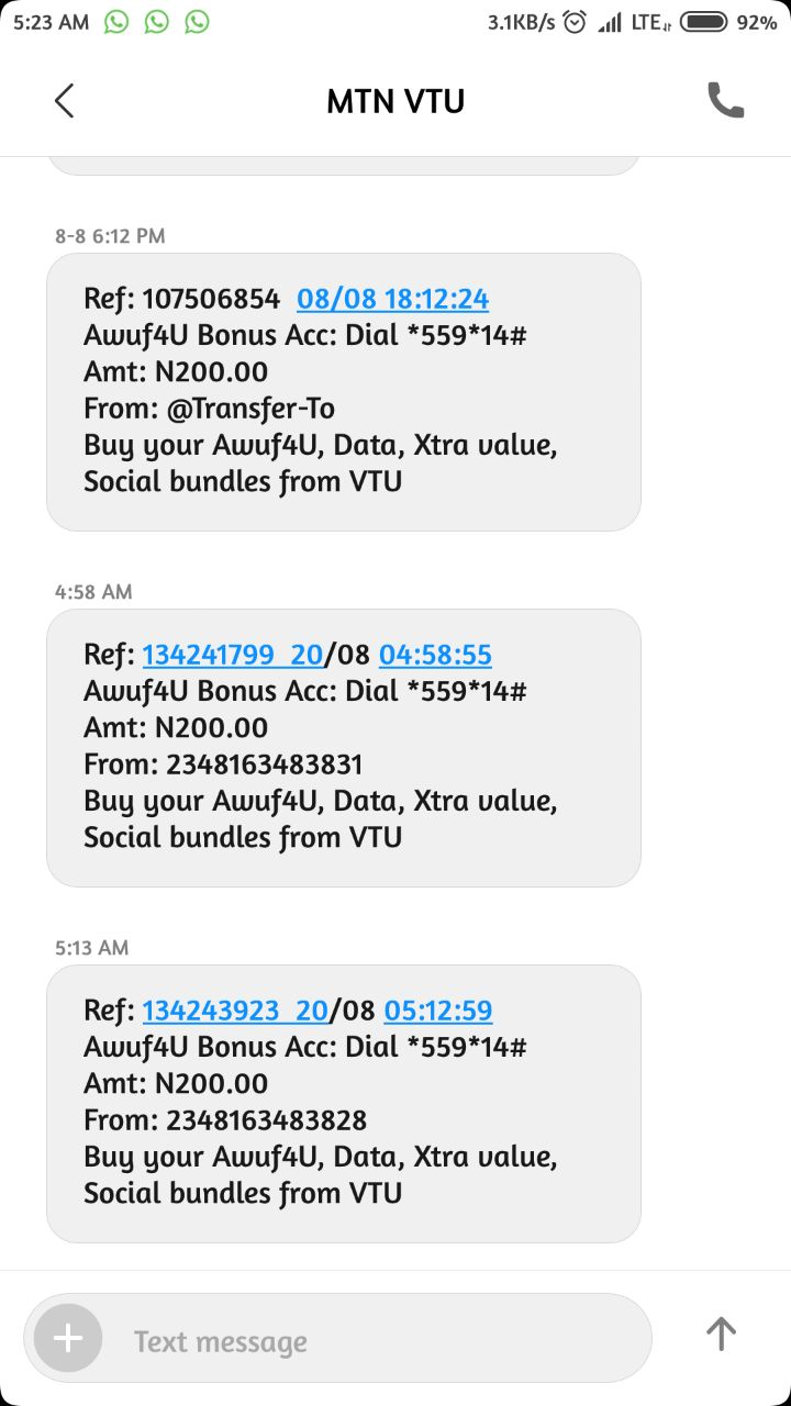 Free 200 Airtime On All Network    - Phones - Nigeria