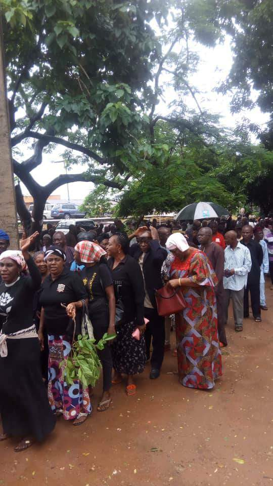 SHOCKING !!!:  Benue Pensioners Protest Ortom's Non-Payment Of Pensions With Coffin (Photos)