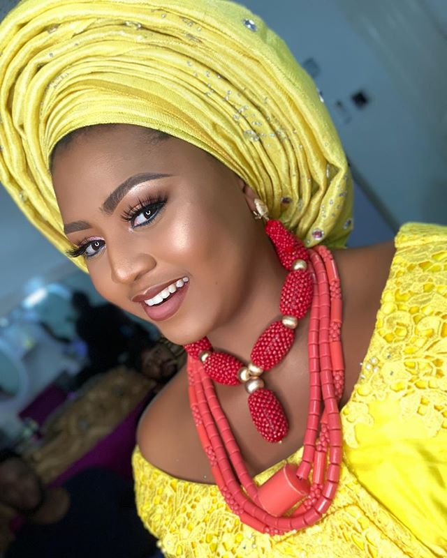 HOT PIC!!!:  Teen Actress, Regina Daniels Stuns In Native Bridal Attire And Make-Up