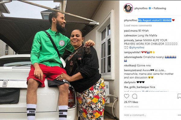 PHOTOS !!!:   Phyno Shares Beautiful Photo With His Mother