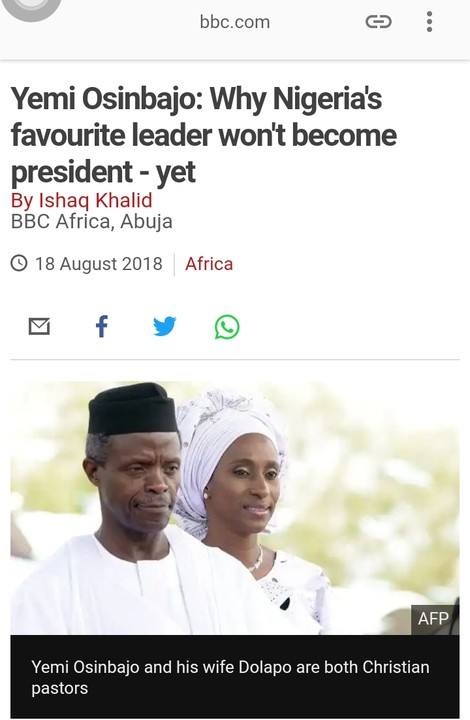 SHOCKING !!!:   Why Nigeria's Favourite Leader Won't Become President Yet – BBC (Photos)