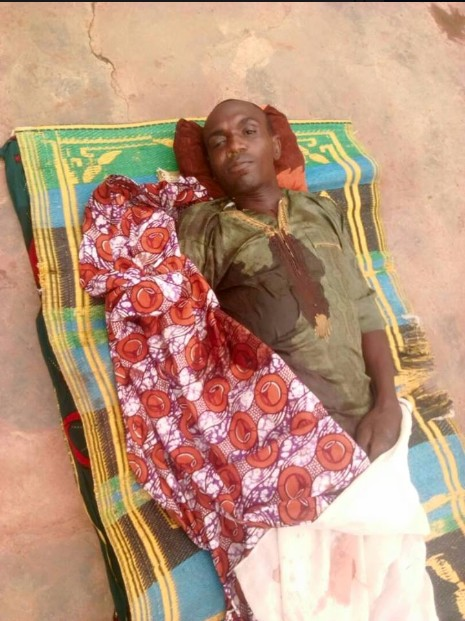Graphic Photo Of Pastor Killed In Kaduna, As Gunmen Kidnap His Wife
