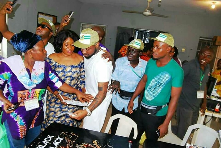 SHOCKING!!!: Fans Rush Davido During His NYSC Registration At Lagos Orientation Camp ( Photos )
