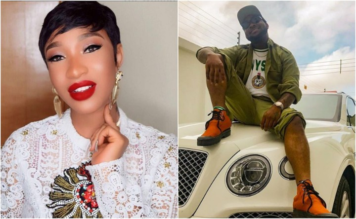 SHOCKING !!!:  Tonto Dikeh Reacts To Davido Registering For NYSC