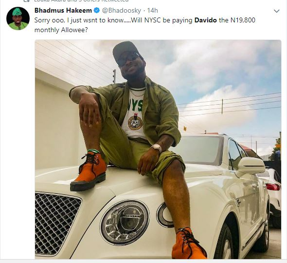 LORD !!!:  Nigerians React To Davido Going For His NYSC, Blast Chioma For 'Dropping Out' (Pics)