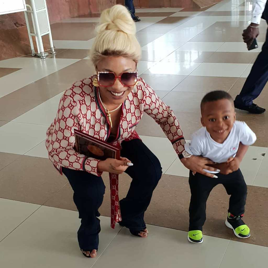 Tonto Dikehs son slams her, tells her shes too naked