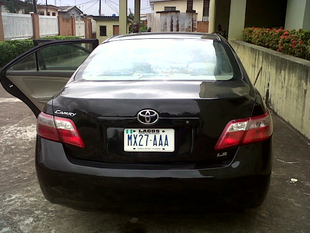 registered 2007 toyota camry le at an unbeatable price 08023295044 08064452948 autos nigeria. Black Bedroom Furniture Sets. Home Design Ideas