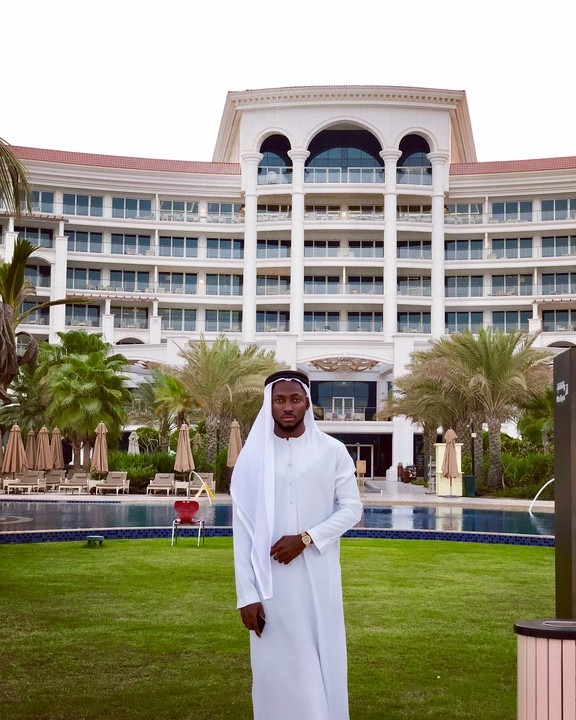 PHOTOS !!!:  » BBNaija Winner, Miracle, Rocks Arab Attire As He Storms Dubai