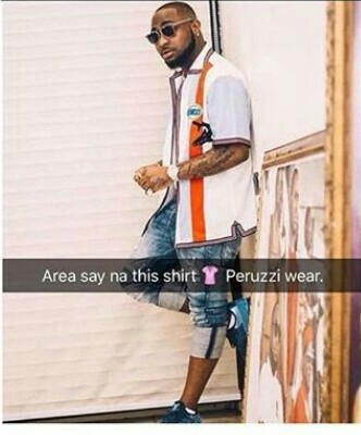 Chioma's Brother, Peruzzi Caught Wearing Davido Used Clothes