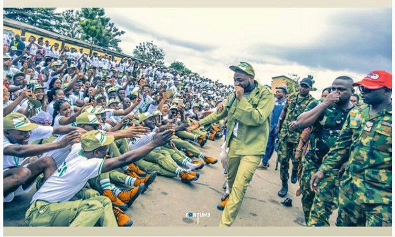 BREAKING !!!:   Caption These Photos Of Davido At NYSC Orientation Camp