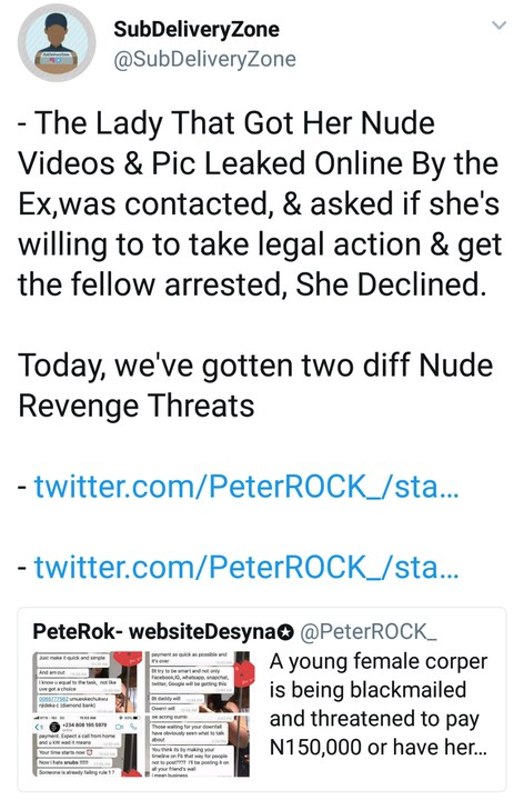 Female Corper Threatened To Pay N150,000 Or Have Her Nudes Leaked