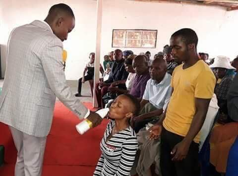 Meet Pastor Who Feeds His Congregations With Bleach & Dettol To Get Healed