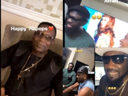 Phyno Celebrates Father's Birthday In His Mansion As Timaya