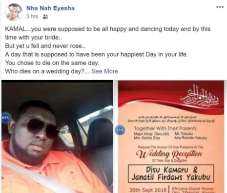 Image result for Ghana Groom Crushed To Death In Car Crash While Going To His Wedding Reception