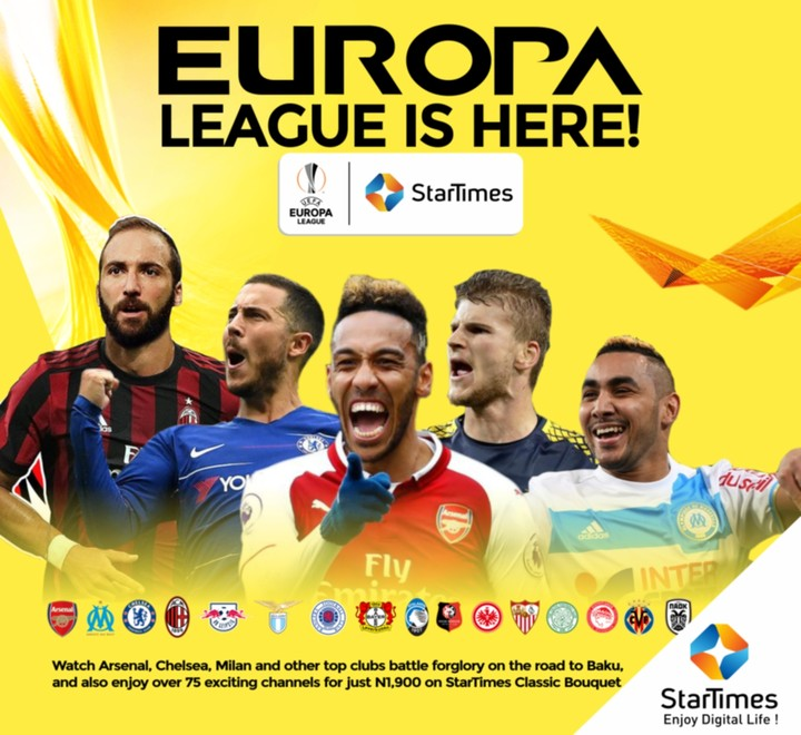 Watch The UEFA Europa League Exclusively On Startimes With