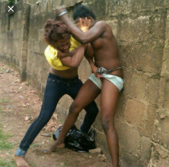 African girls fight naked 13