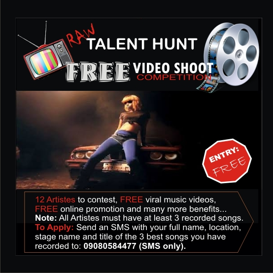 About The On-going RAW Talent Hunt: Free Music Video Competition