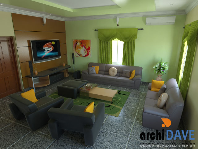 24 innovative home interior design in nigeria for Living room decoration in nigeria